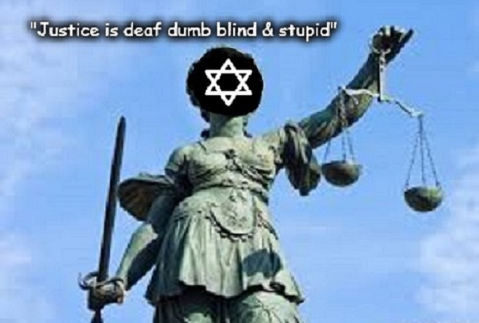 Justice is blind ~ Scales Star of David ~