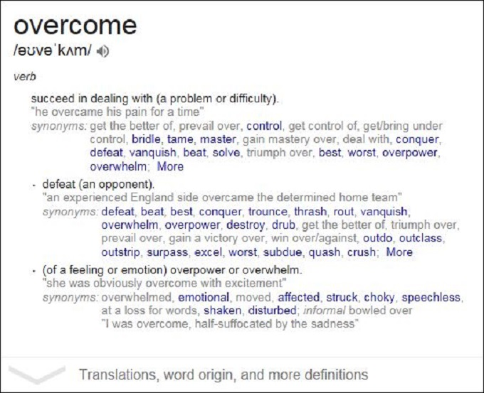 Overcome meaning
