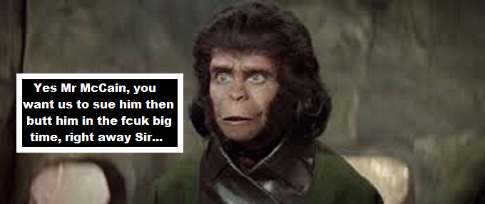 Planet of the Apes TES Mr McCain ~ Sue him
