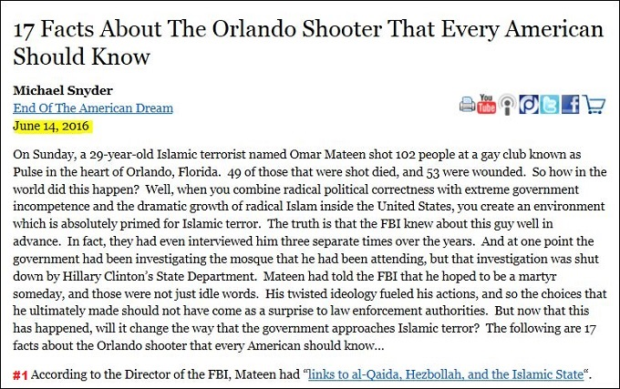 Red 17 facts about the Orlando shooter