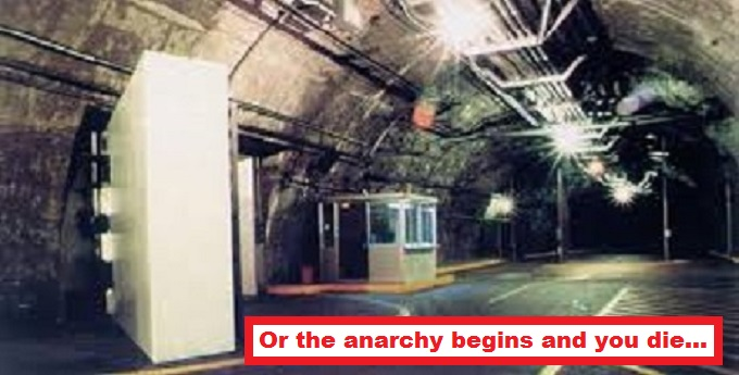 Underground bunker anarchy begins and you die