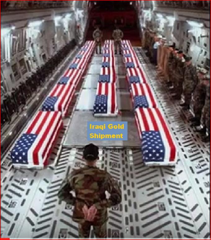 US Military coffins Iraqi Gold shipment 550
