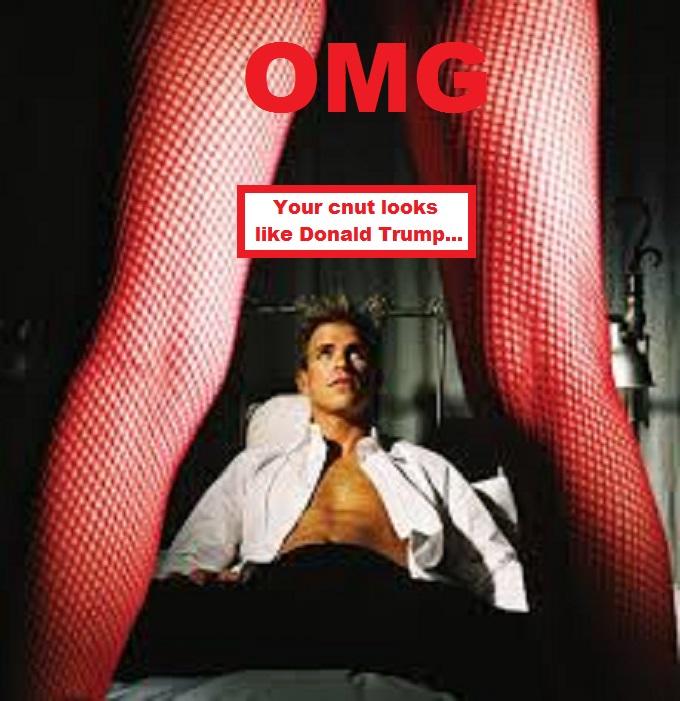 Woman prostitute legs Trump cnut