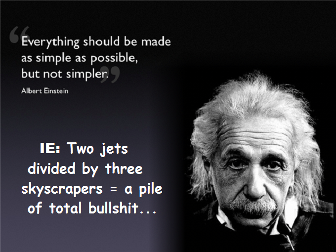 Albert Einstein Simple as possible IE Total bullshit