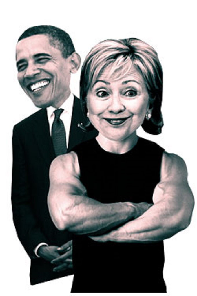 Clinton Obama muscles