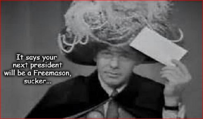 Johnny Carson Carnac next president Freemason