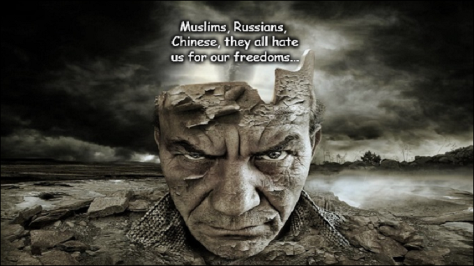 Muslims Russians Chinese hate our freedoms ~ Absurd mind
