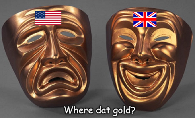 Tragic America Britain where dat gold