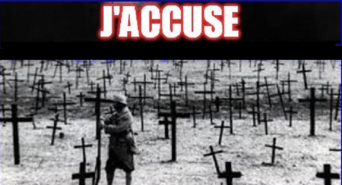 YOU BLOODY FRAUDS ~ J'Accuse
