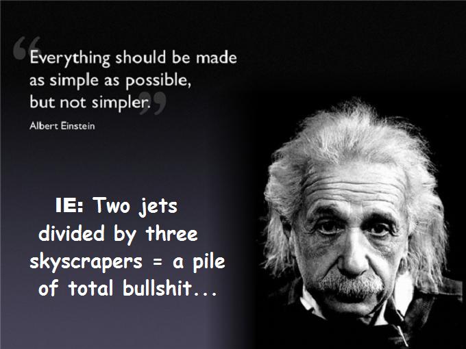 Albert Einstein Simple as possible IE Total bullshit