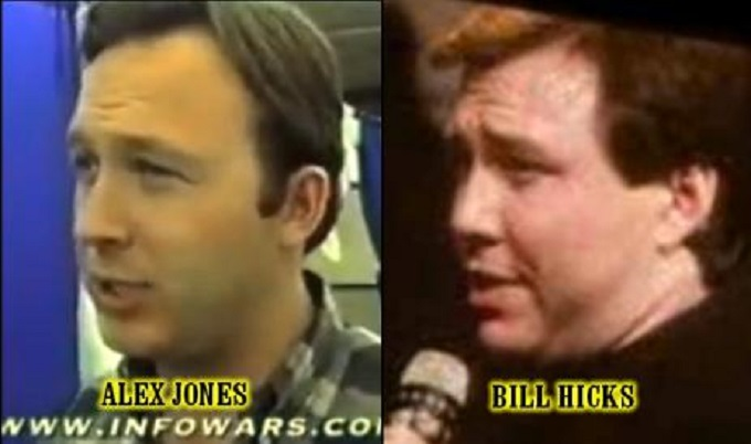 Alex Jones Bill Hicks likeness