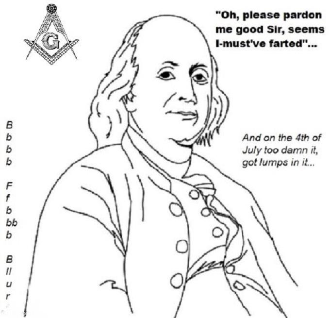 Ben Franklin Mason farted