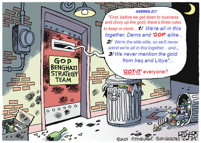 Benghazi GOP Gold Cartoon