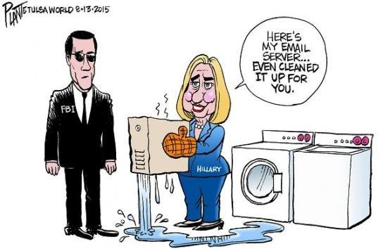 Clinton laundered Emails washing machine