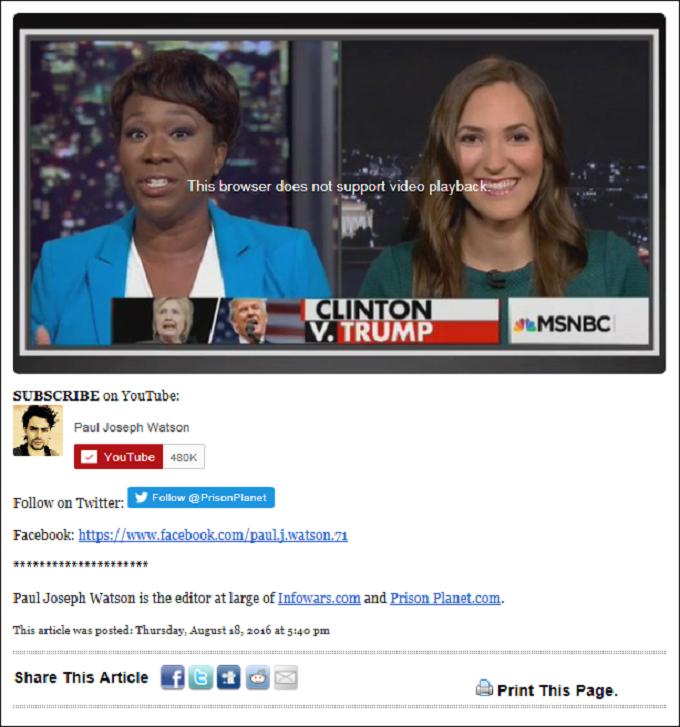 Clinton Trump MSNBC