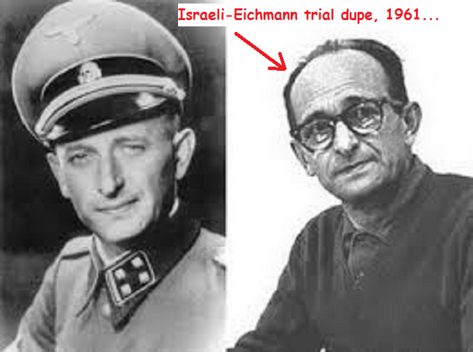Eichmann Double photo Israeli trial dupe