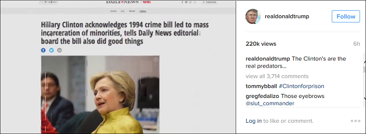 Hillary Clinton crime bill real Donald Trump