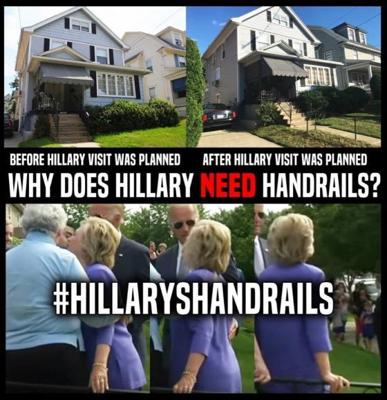 Hillary Clinton Handrails
