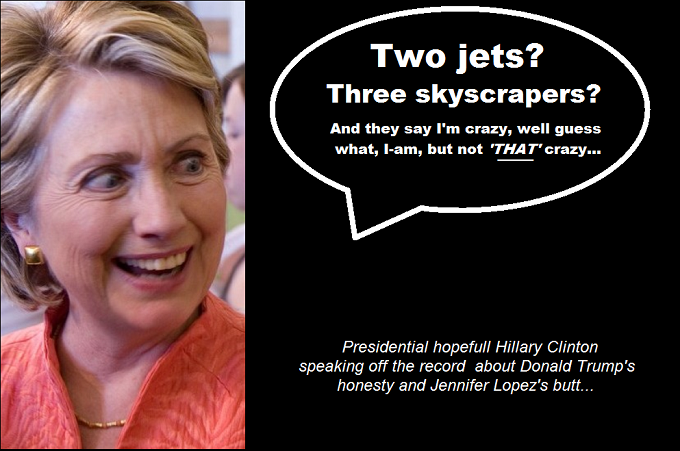 Hillary crazy 2 jets Donald Trump