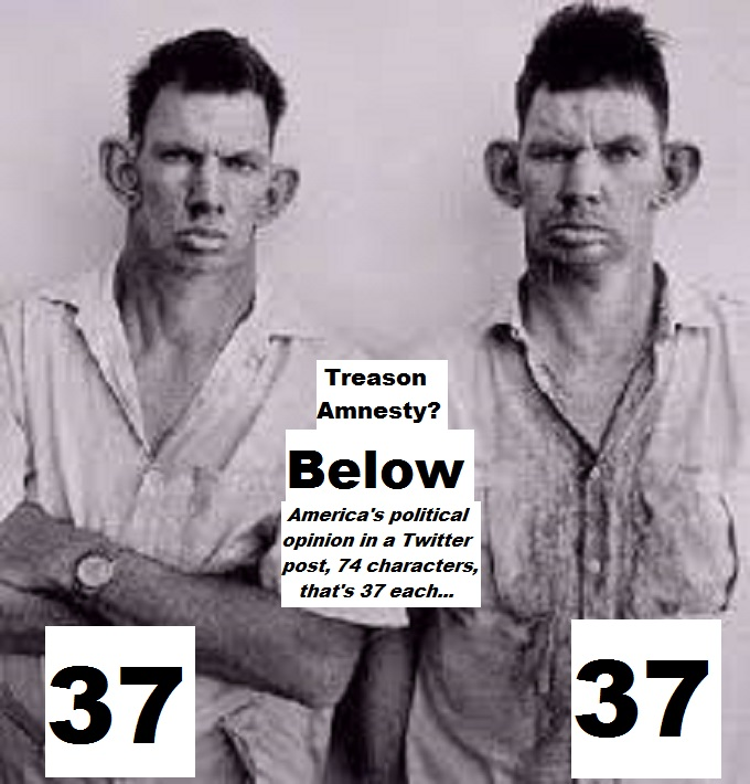 Inbred Hillbilly TREASON AMNESTY 74 Chars 37 each