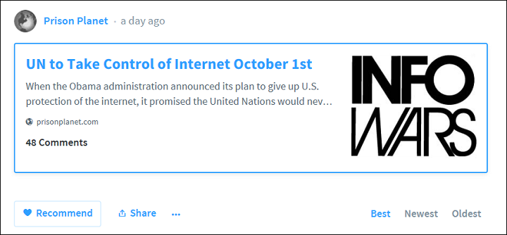 Infowars UN Internet