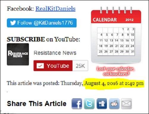Lost your calendar Real Kit Daniels PP