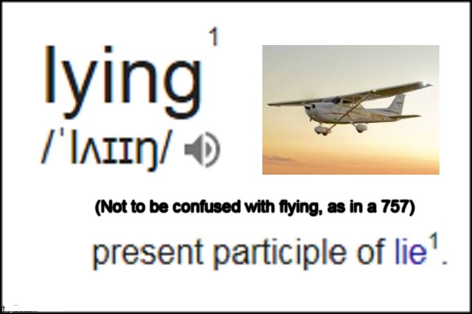Lying flying Cessna 757