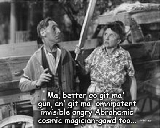 Ma and Pa Kettle ~ Git ma' god an' gun CROPPED