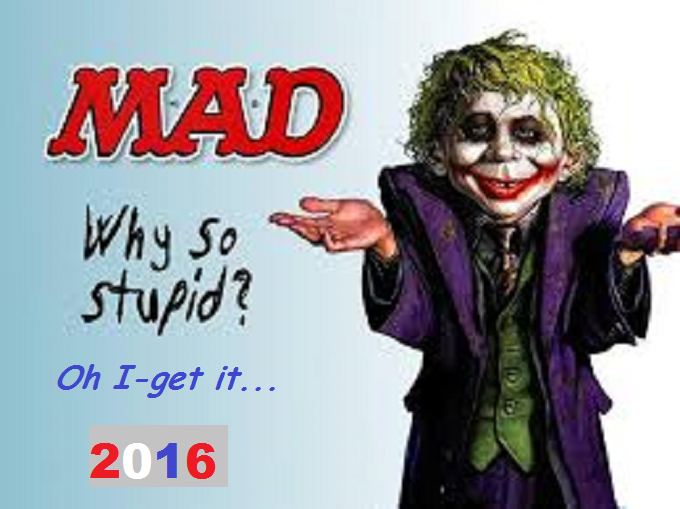 MAD Joker why so stupid ~ 2016
