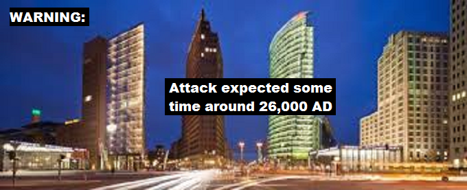 Potsdamer Platz skysrapers WARING ATTACK EXPECTED 26,000 AD