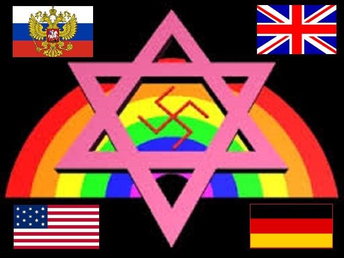 Rainbow flag Russia Germany England America