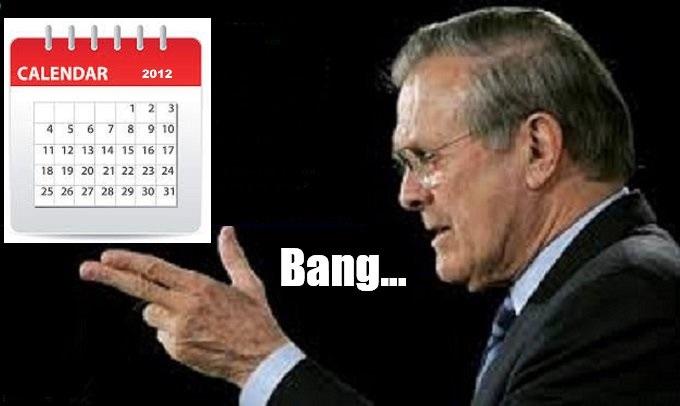 Rumsfeld Trump Calendar 2012 Bang