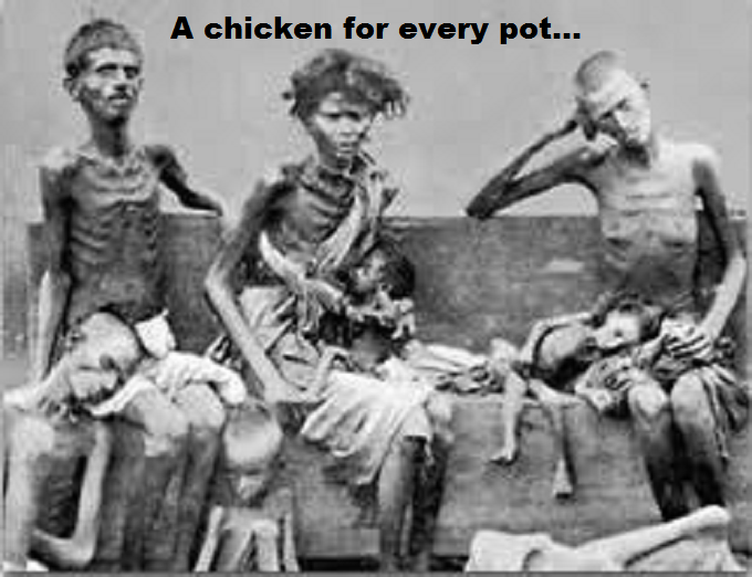 Starving ~ Stalin says a CHICKEN for every pot