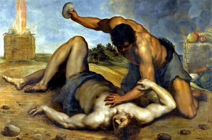 Cain Slaying Abel by Jacopo Palma