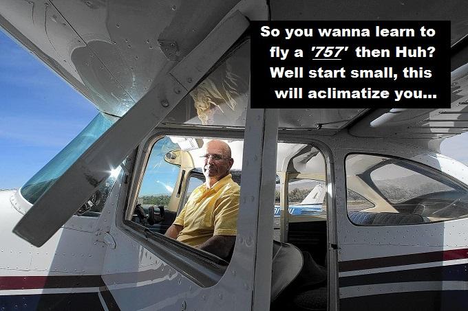Cessna pilot start small 757