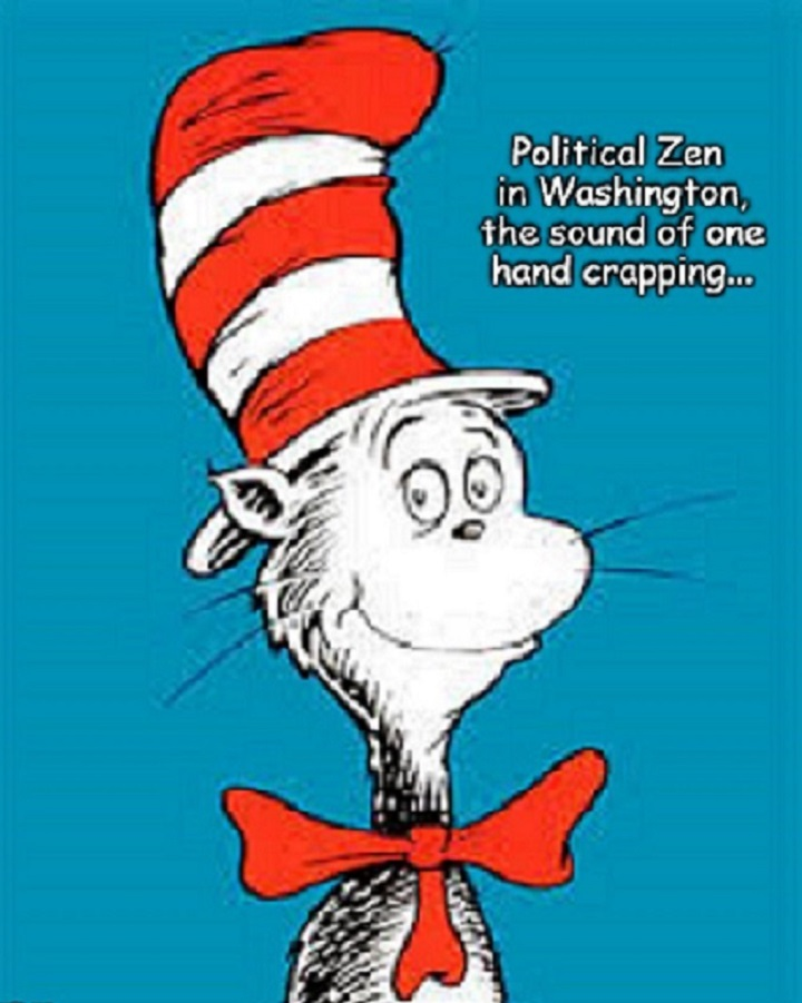 Dr Zeuss cat one hand crapping Zen Washington