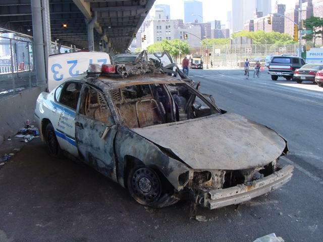 melted-cop-car-911