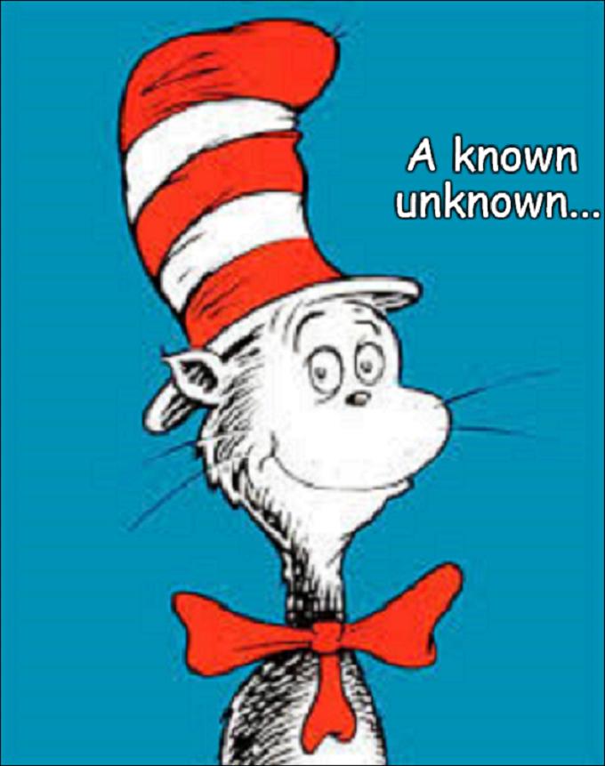 Seuss Cat a known unlnown