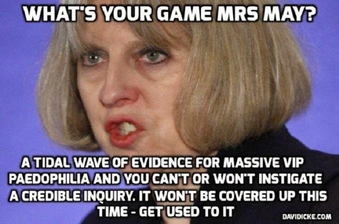 Theresa May pedophile