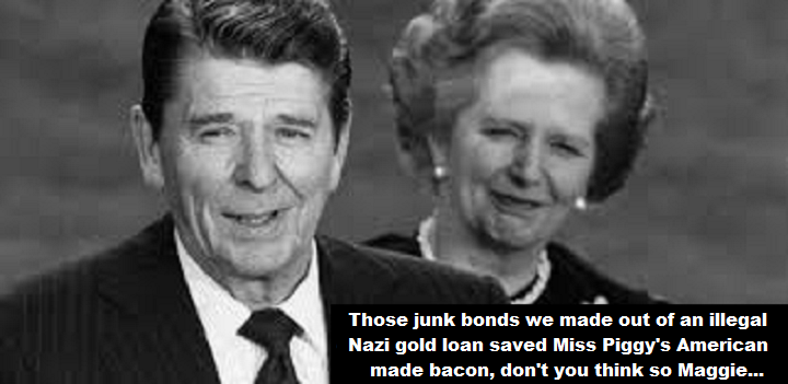 thatcher-and-reagan-nazi-gold-miss-piggys-bacon