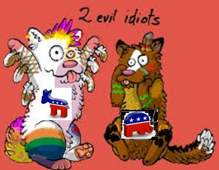 two-evil-idiot-cats-gop-dem