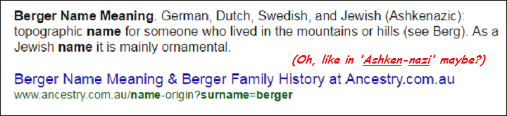 berger-name-meaning