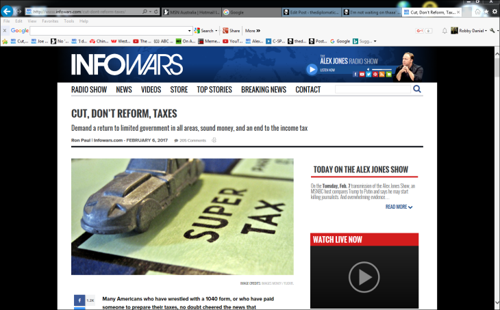cut-dont-reform-taxes-infowars