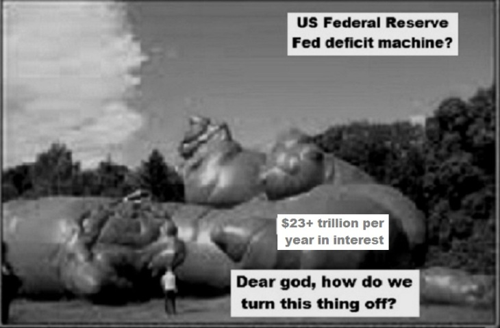 Shit for brains US Fed deficit