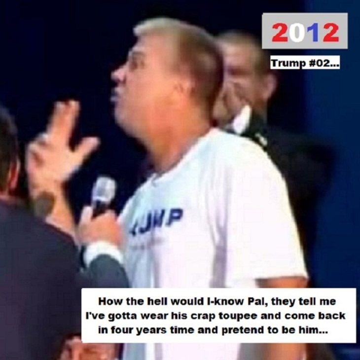 Trump's lookalike Donald Toupee TRUMP #02 TWO (2)