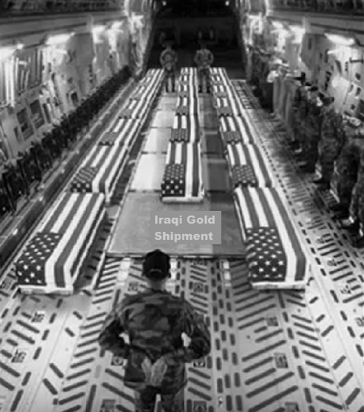 Iraq Gold Coffins black and white