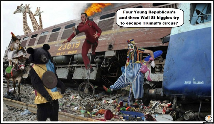 Debt train crash Four Young Republican's three Wall St biggies