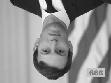 Kushner upside down black and white