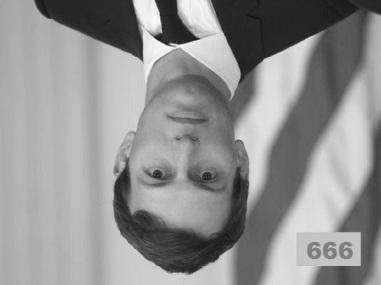 Kushner upside down black and white
