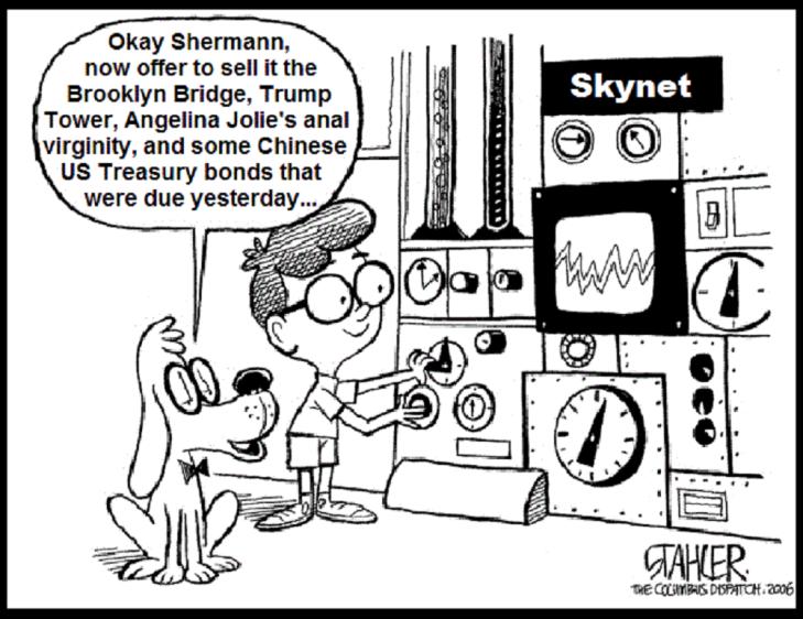 Shermann Skynet Brooklyn Bridge Trump Tower Angelina Jolie